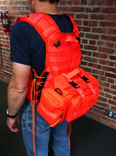 Outdoorsman Hunting Vest with attached Gear Pack